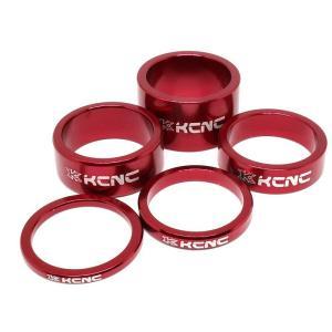 KCNC ヘッドセットパーツ スペーサーセット 3/5/10/14/20mm レッド|trycycle
