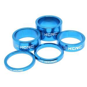 KCNC ヘッドセットパーツ スペーサーセット 3/5/10/14/20mm ブルー|trycycle
