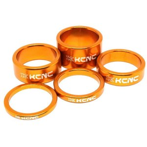 KCNC ヘッドセットパーツ スペーサーセット 3/5/10/14/20mm ゴールド|trycycle