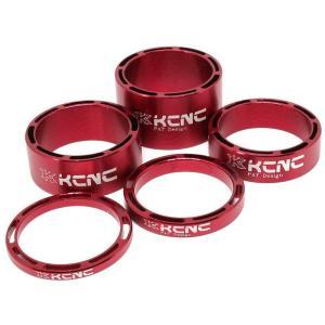 KCNC ヘッドセットパーツ SLSスペーサーセット 3/5/10/14/20mm レッド|trycycle