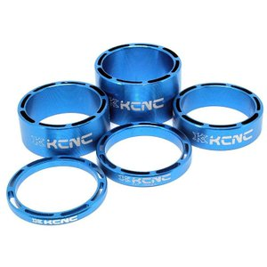 KCNC ヘッドセットパーツ SLSスペーサーセット 3/5/10/14/20mm ブルー|trycycle