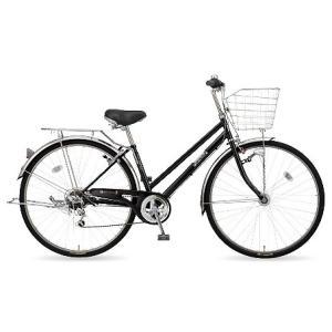 【防犯登録サービス中】丸石(マルイシ) 自転車 フォーメーション シティ6段 FMSP276B K1E 黒系エナメル|trycycle