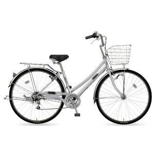 【防犯登録サービス中】丸石(マルイシ) 自転車 フォーメーション Wループ6段 FMWP276B S80M シルバー系メタリック|trycycle