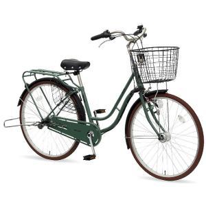 【防犯登録サービス中】丸石(マルイシ) 自転車 ノエア NAP263B H47E モスグリーン|trycycle