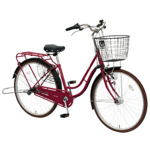 【防犯登録サービス中】丸石(マルイシ) 自転車 ノエア NAP263B RD05E ダークルージュ|trycycle