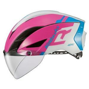送料無料 OGK KABUTO(オージーケーカブト) ヘルメット エアロ-R1 G1ピンクブルー L/XL|trycycle