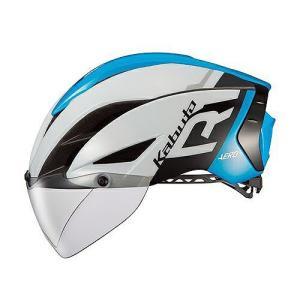 送料無料 OGK KABUTO(オージーケーカブト) ヘルメット エアロ-R1 G1ホワイトブルー S/M|trycycle
