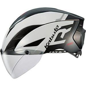 送料無料 OGK KABUTO(オージーケーカブト) ヘルメット エアロ-R1 G1ホワイトダークグレー XS/S|trycycle