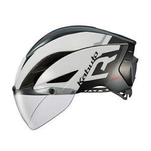 送料無料 OGK KABUTO(オージーケーカブト) ヘルメット エアロ-R1 G1ホワイトダークグレー S/M|trycycle