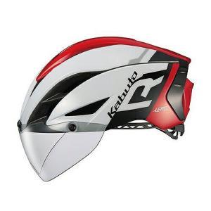送料無料 OGK KABUTO(オージーケーカブト) ヘルメット エアロ-R1 G1ホワイトレッド S/M|trycycle