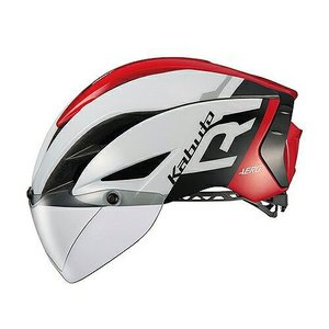 送料無料 OGK KABUTO(オージーケーカブト) ヘルメット エアロ-R1 G1ホワイトレッド L/XL|trycycle