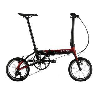 送料無料 DAHON(ダホン) 折りたたみ自転車 K3 レッド マットブラック 【北海道、九州、沖縄、離島は送料別】|trycycle