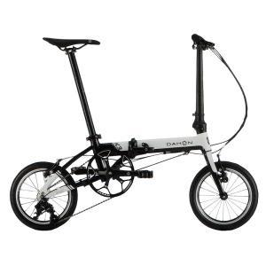 送料無料 DAHON(ダホン) 折りたたみ自転車 K3 ホワイト ブラック 【北海道、九州、沖縄、離島は送料別】|trycycle