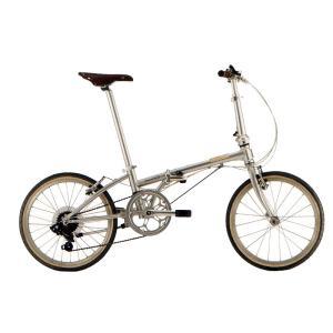 送料無料 DAHON(ダホン) 折りたたみ自転車 Boardwalk D7 ブリリアントシルバー 【北海道、九州、沖縄、離島は送料別】|trycycle