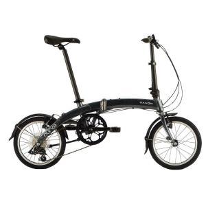 送料無料 DAHON(ダホン) 折りたたみ自転車 Curve D7 スティールグレー 【北海道、九州、沖縄、離島は送料別】|trycycle