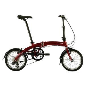 送料無料 DAHON(ダホン) 折りたたみ自転車 Curve D7 ルビーレッド 【北海道、九州、沖縄、離島は送料別】|trycycle
