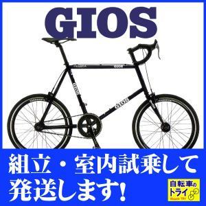 【完全組立済自転車】【送料無料】GIOS(ジオス) ミニベロ FELUCA PISTA BLACK【北海道、九州、沖縄、離島は送料別】|trycycle