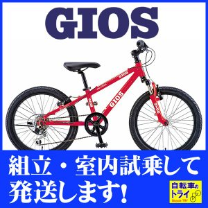 GIOS(ジオス) 子供自転車 GENOVA RED 20インチ【完全組立済自転車】|trycycle