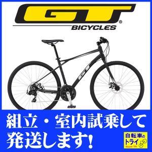 送料無料 GT クロスバイク TRANSEO SPORT (700C) ブラック 2019 【北海道、九州、沖縄、離島は送料別】|trycycle