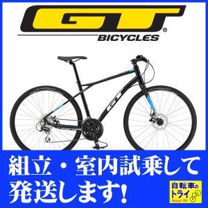 送料無料 GT クロスバイク TRAFFIC X (700C) ブラック 2019 【北海道、九州、沖縄、離島は送料別】|trycycle