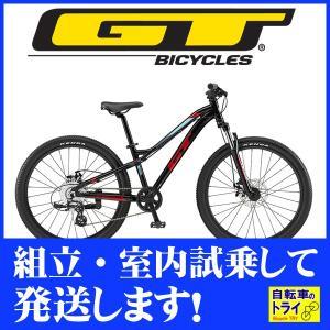 送料無料 GT キッズ 子供用自転車 STOMPER ACE 24 U ブラック 2019 【北海道、九州、沖縄、離島は送料別】|trycycle