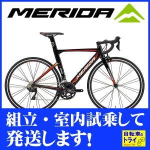送料無料 メリダ(MERIDA) ロードバイク REACTO400 ブラック  【北海道、九州、沖縄、離島は送料別】|trycycle