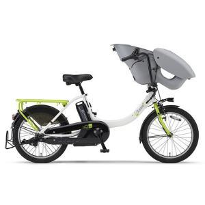 ヤマハ パス 電動アシスト自転車 PAS Kiss mini un ホワイト/グリ-ン PA20KXL|trycycle
