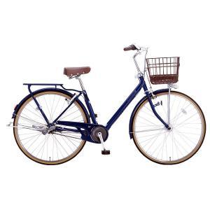 送料無料 ミヤタ(MIYATA) シティサイクル アルマックスVベルト DXV73LB0 (AB27) ブラックナイトブルー|trycycle