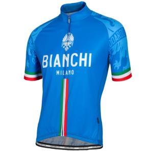 送料無料 ビアンキ(BIANCHI) 男性用ウェア 半袖サイクルジャージ SADO BLUE Lサイズ|trycycle