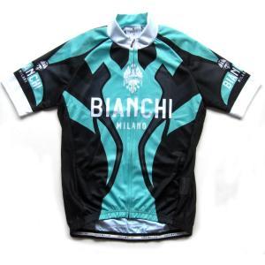 送料無料 ビアンキ(BIANCHI) 男性用ウェア 半袖サイクルジャージ OCERZA BLACK Lサイズ|trycycle