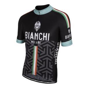 送料無料 ビアンキ(BIANCHI) 男性用ウェア ビアンキ 半袖サイクルジャージ PONTESEI 4000 BLACK L|trycycle