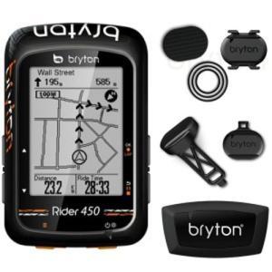 送料無料 BRYTON(ブライトン) GPSサイクルコンピューター Rider450T トリプル|trycycle