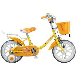 【防犯登録サービス中】ブリヂストン キッズ用自転車 エコキッズ カラフル EK14C6 イエロー/オレンジ|trycycle