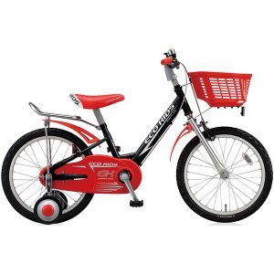 【防犯登録サービス中】ブリヂストン キッズ用自転車 エコキッズ スポーツ EK16S6 ブラック/レッド trycycle