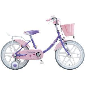 【防犯登録サービス中】ブリヂストン キッズ用自転車 エコキッズ カラフル EK18C6 ラベンダー/ピンク|trycycle