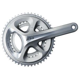 送料無料 シマノ 105 ホローテックII クランクセット(2x11スピード) FC-5800 175mm 53×39 シルバー|trycycle