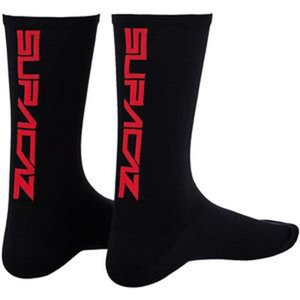 SUPACAZ(スパカズ) ソックス SUPA SOX ストレートアップ S/M BLK/RED|trycycle