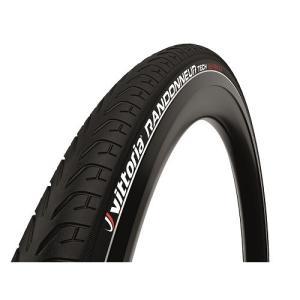 VITTORIA(ヴィットリア) クロスバイクタイヤ RANDONNER TECH ランドナーテック(リフレクター) Rigid G2.0 700x28C フルブラック|trycycle