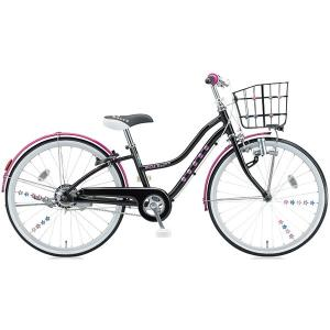 【防犯登録サービス中】ブリヂストン 少女用自転車 ワイルドベリー WB206 ブラックパンサー 22インチ変速なし|trycycle