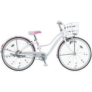 【防犯登録サービス中】ブリヂストン 少女用自転車 ワイルドベリー WB206 パールシュガー 22インチ変速なし|trycycle