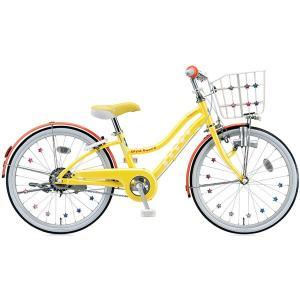 【防犯登録サービス中】ブリヂストン 少女用自転車 ワイルドベリー WB206 レモンポップ 22インチ変速なし|trycycle