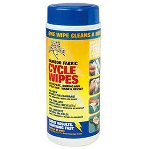 ホワイトライトニング(WHITE LIGHTNING) ケミカル バンブー サイクル ワイプ 25枚入りプラボトル|trycycle