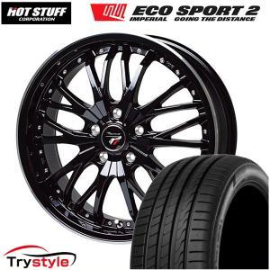 215/40R18 ホットスタッフ プレシャス HM-3 インペリアルエコスポーツ2 5H/100 新品 タイヤ・ホイール 4本セット プリウス/カローラスポーツ|trystyle