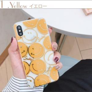 iPhoneXR ケース iPhoneXs Max ケース 8 おしゃれ Plus 7 6s クリアケース スマイル ニコちゃん プラス SMILE アイフォン アイホンカバー  スマホ 黄黒|tsaden|05