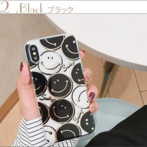 iPhoneXR ケース iPhoneXs Max ケース 8 おしゃれ Plus 7 6s クリアケース スマイル ニコちゃん プラス SMILE アイフォン アイホンカバー  スマホ 黄黒|tsaden|06
