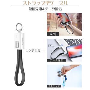 iPhone 充電ケーブル Type-C ケーブル ストラップ 短い アイコス3 iQOS Lightning 充電器 USB Android タイプC ライトニング コネクタ アイホン アイフォン 耐久|tsaden|02