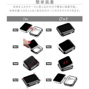 アップルウォッチ カバー ケース 44 40 Apple Watch series 4 3 2 1 保護 44mm 42mm 40mm 38mm 1 2 3 ソフト|tsaden|08
