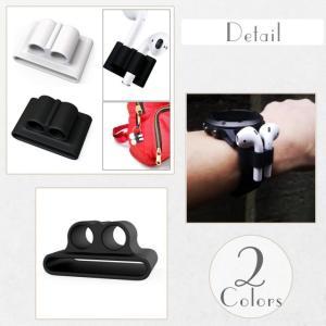 アップルウォッチ イヤホン シリコンホルダー Apple Watch AirPods Bluetooth ワイヤレスイヤホン Apple アップル|tsaden|05