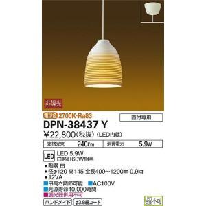 大光電機 照明器具 和風LED小型ペンダントライト 信楽透器<光を通す陶器> 電球色 白熱灯60Wタイプ 非調光 DPN-38437Y|tss|02