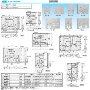日東工業 プラボックス 計器収納ボックス 電力量計用取付板 MP-21A